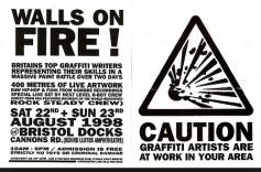 1998:8 - Flyer - Walls on Fire