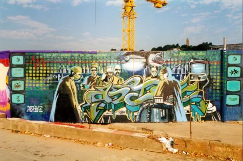 1998:8 - SA - Banksy Walls on fire - unknown