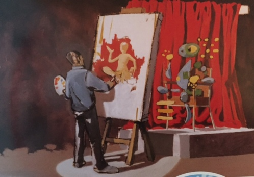 1999 - Original - Early Easton exhibition - Artist at work - HSH p45