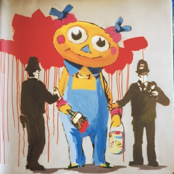 1999 - Original - Early Easton Exhibition - Clown w cops - HSH p67