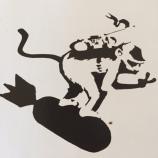 1999 - SA - UK - Bristol - Monkey surfing on bomb - HSH p86