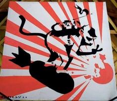2000 - Original - Severnshed - Monkey surfing on bomb- Flickr - melfleasance