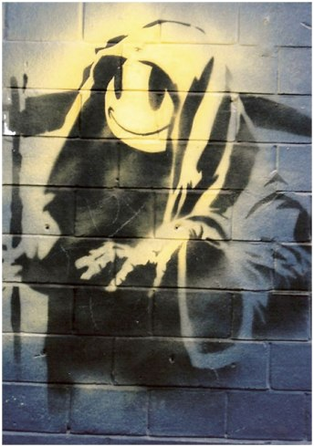 2000 - SA - UK - London - Shoreditch - Smiley Grim Reaper