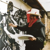 Banksy at work in Chiapas