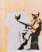 Banksy stencil in Chiapas