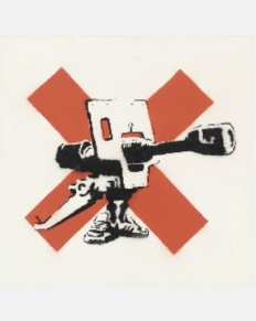 2002 - Original - Canon on a red cross - Christies