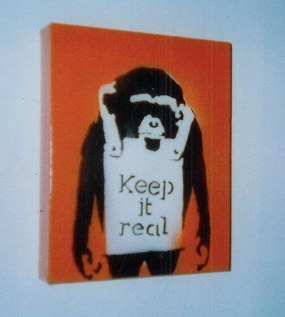 2002:12:17 - Original - Santas Ghetto 2002 - Monkey w Keep it real - Prescription art Flickr