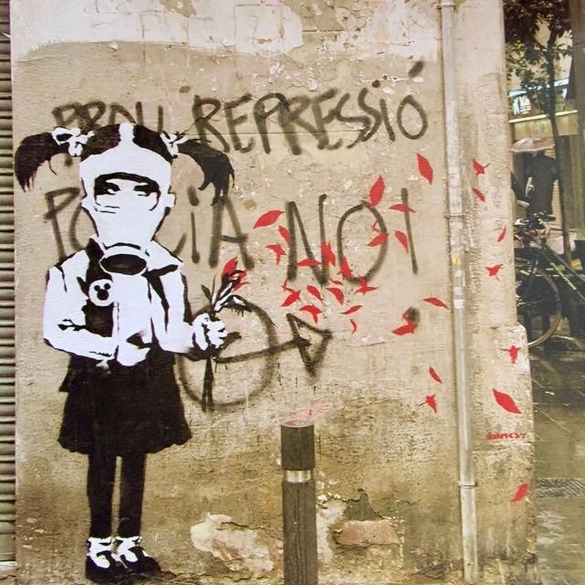 Banksy in Barcelona. Born