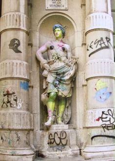 Banksy in Barcelona. Plaza de la Veronica.