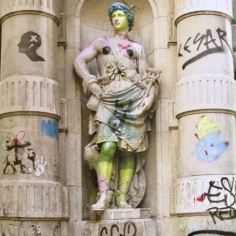 Banksy in Barcelona. Plaza de la Veronica.