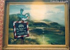 2003:07:18 - Original - Bird w placard Mines - Turf War