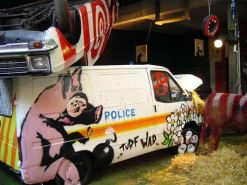 2003:07:18 - Original - Turf War - Painted police van - Benny Goh