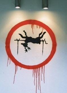 2003:12 - Original - Santas Ghetto 2003 - Reindeer on spit - artofthestate