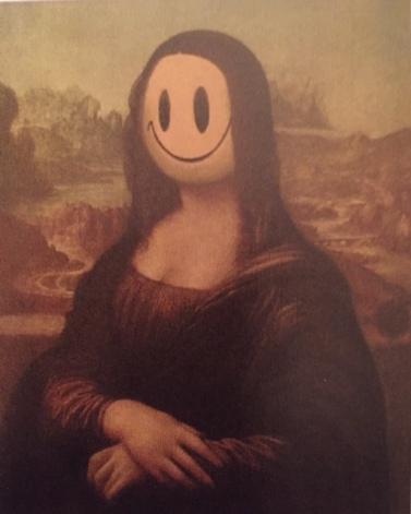 Mona Lisa with a smiley