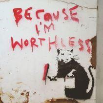 2004 - SA - UK - London - Clerkenwell - Rat w Because I'm worthless - Where's Banksy p37