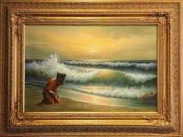 2005:10:15 - Original - Crude Oils - Guantamo prisoner on beach