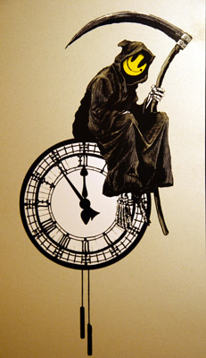 2005:12 - Original - Santas Ghetto 2005 - Grim reaper on clock