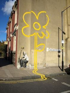 2007 - SA - UK - London - Bethnal green - Yellow lines flower painter - uk.complex.com