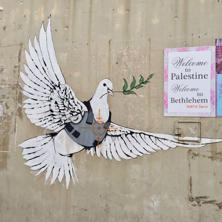 2007:12:24 - SA - Santas Ghetto - Betlehem - Armoured dove - RA