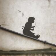 2008 - SA - UK - London - Hackney - Bubble slide girl - Where's Banksy p101