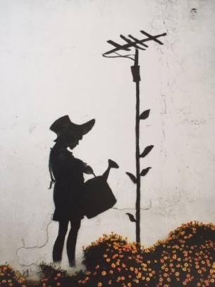 2008 - SA - USA - Los Angeles - Flower aerial girl - Where's Banksy p105
