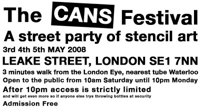 Flyer Cans Festival.