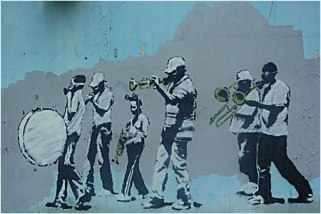 2008:8 - SA - USA - New Orleans - Marching Band - canvasartrocks.com