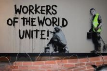 2009:6 - Original - Stencil - BvBM - Workers of the world unite