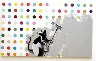 2009:7 - Original - Oil - BvBM - Hirst spot painting - unknown source