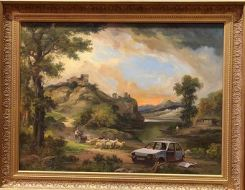 2009:7 - Original - Oil - BvBM - Landscape near Hardcliffe - unknown source