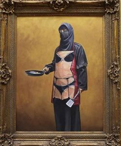 2009:7 - Original - Oil - BvBM - Woman w burka - Source unknown