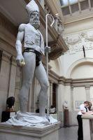 2009:7 - Original - Sculpture - BvBM - corrupted statue w cardinal hat - unknown source