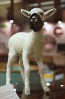 2009:7 - Original - Sculpture - BvBM - Lamb in a muzzle - unknown source