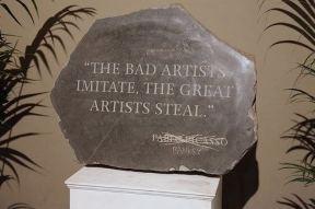 2009:7 - Original - Sculpture - BvBM - Sculpture w Picasso quote - unknown source