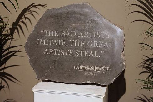 2009:7 - Original - Sculpture - BvBM - Sculpture w Picasso quote - unknown source
