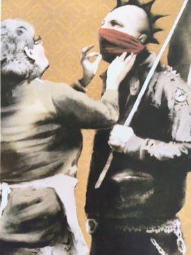 2009:7 - Original - Stencil - BvBM - Anarchopunk and mum - HSH p115