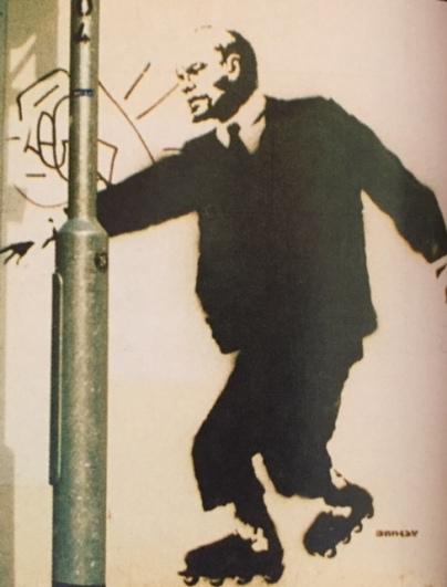 200x - SA - UK - Bristol - Lenin on rollerskates - Wall and piece p134