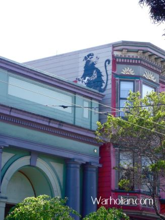 2010:4:25 - SA - San Francisco - Rat w spray can on roof - Arrested Motion