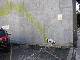 2011:2:23 - Los Angeles - SA - Dog peeing - Arrested Motion