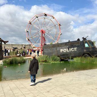 2015 - Original - Dismaland - Police riot van - RA