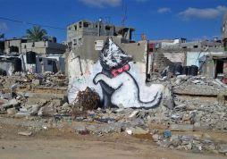 2015:2:25 - SA- Gaza - Kitten - banksyweb