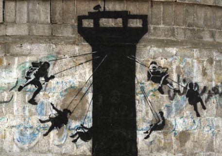2015:2:25 - SA - Gaza - Watchtower - banksyweb