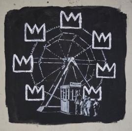 2017:09:18 - SA - UK - London - Barbican - Basquiat crowns - Instagram