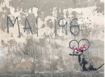 20180624 - SA - France - Paris - Rat w Mai 1968 - Street Art News