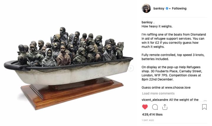 20181201 - Original - Refugees in boat - Instagram